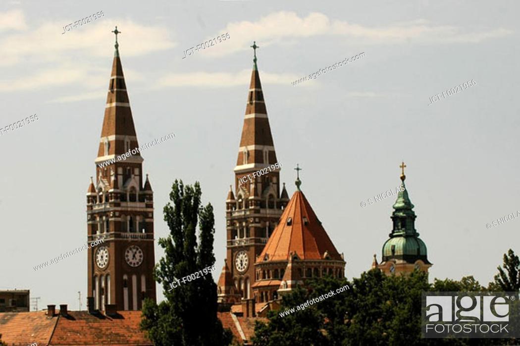 Stock Photo: Hungary, Szeged, votive church.