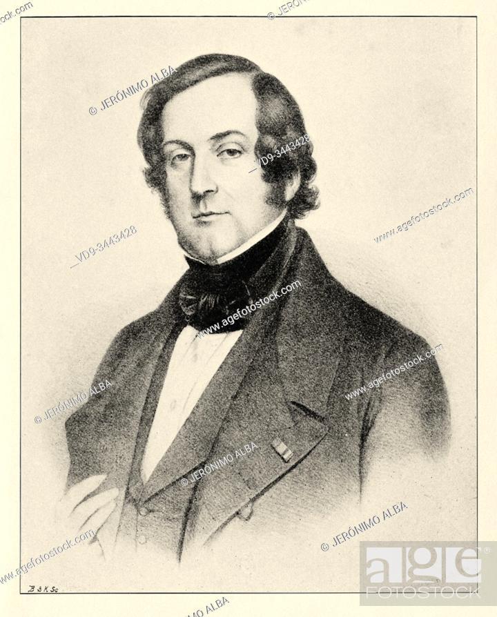 """Photo de stock: Portrait of Count Charles Marie Tanneguy Duchatel (19 February 1803, Paris â. """" 5 November 1867, Paris) was a French politician."""