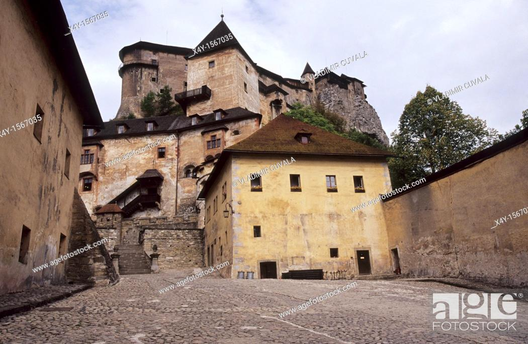 Stock Photo: The medieval Orava castle, Slovakia.
