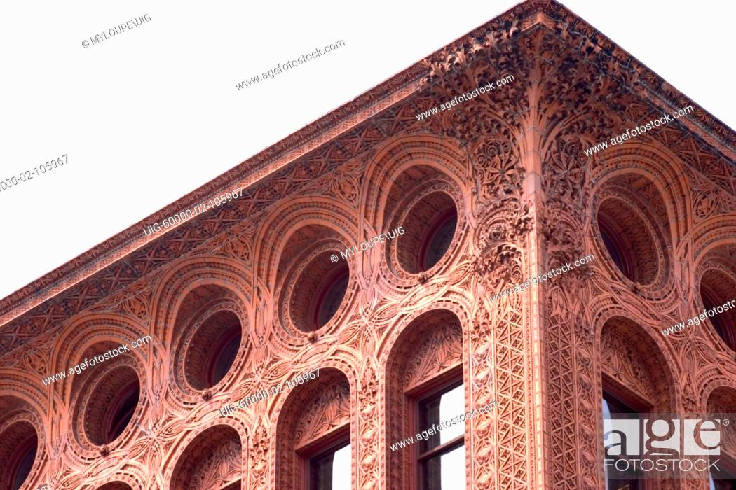 Photo de stock: The Guaranty / Prudential building, Buffalo, New York, USA. One of earliest skyscapers, designed by architect Louis Sullivan, completed 1896.