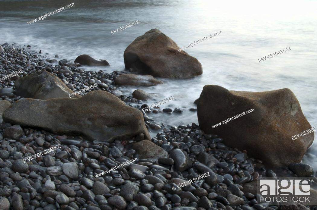 Stock Photo: Coastal landscape. Las Playas Natural Monument. Valverde. El Hierro. Canary Islands. Spain.