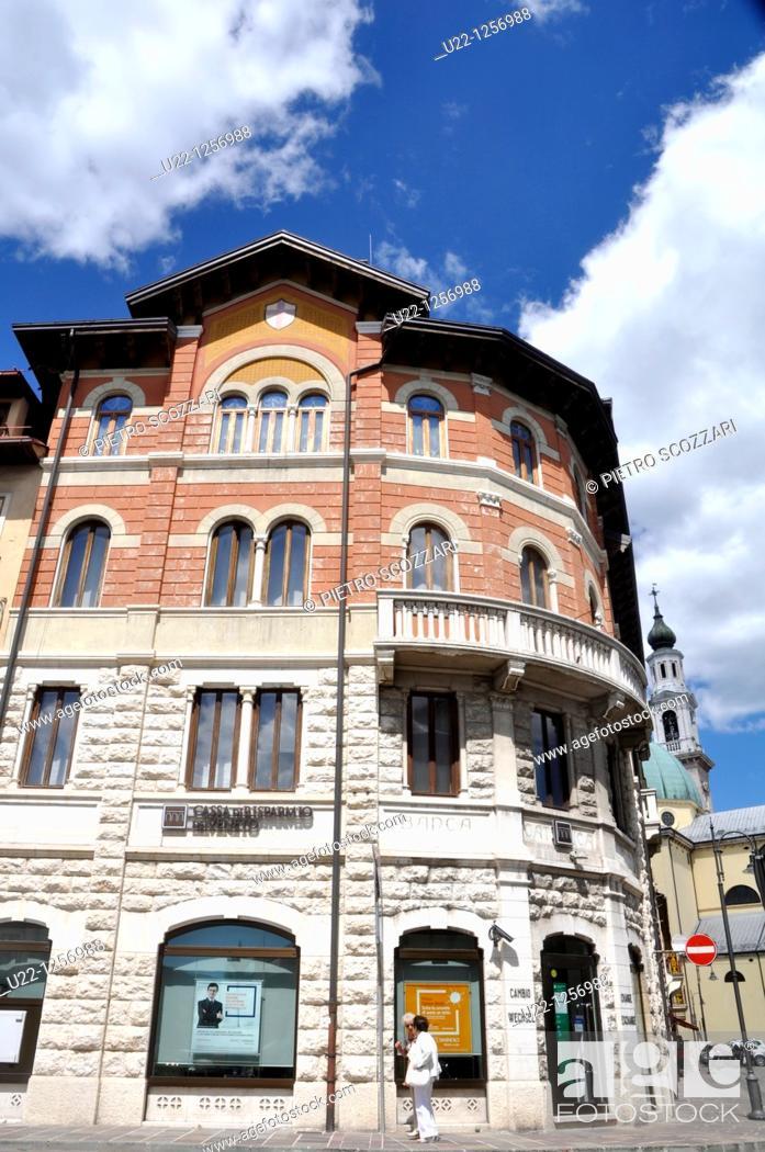 Stock Photo: Asiago (Veneto, Italy): house in the town's center.