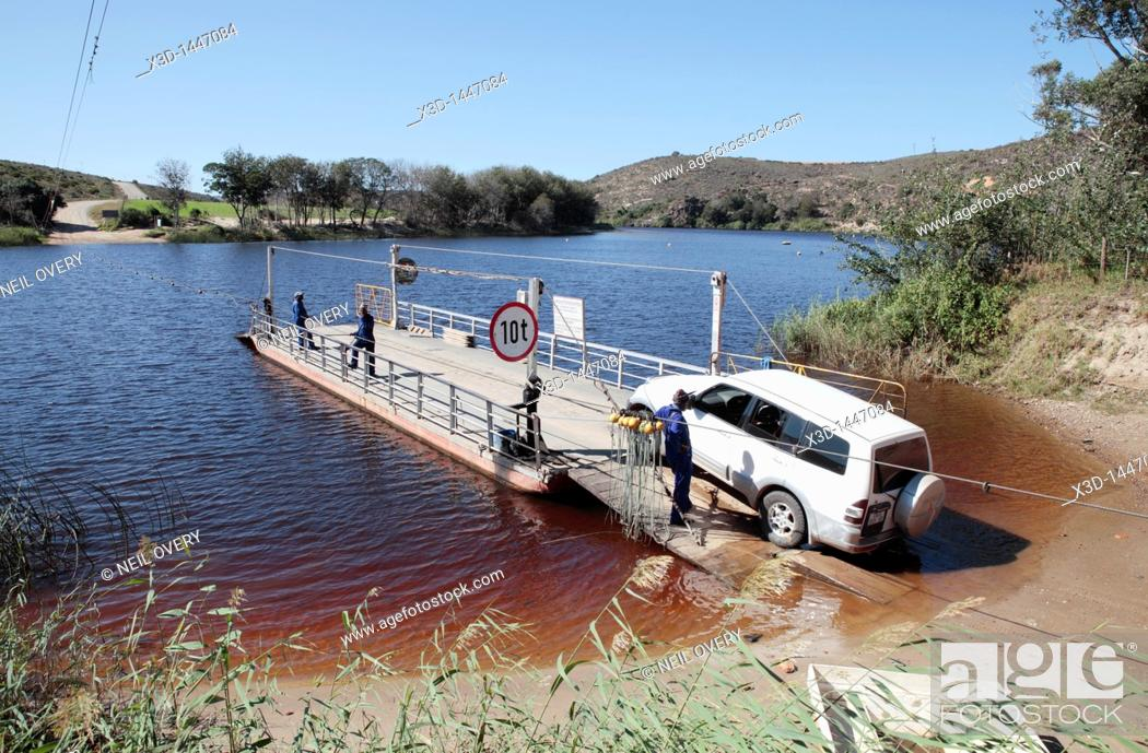 Stock Photo: Pont over the Bree River at Malgas, Western Cape, South Africa.