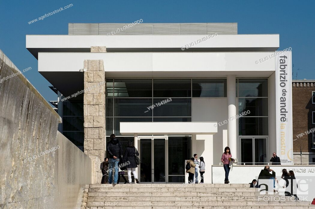 Stock Photo: Ara Pacis Augustae, Rome, Lazio, Italy.