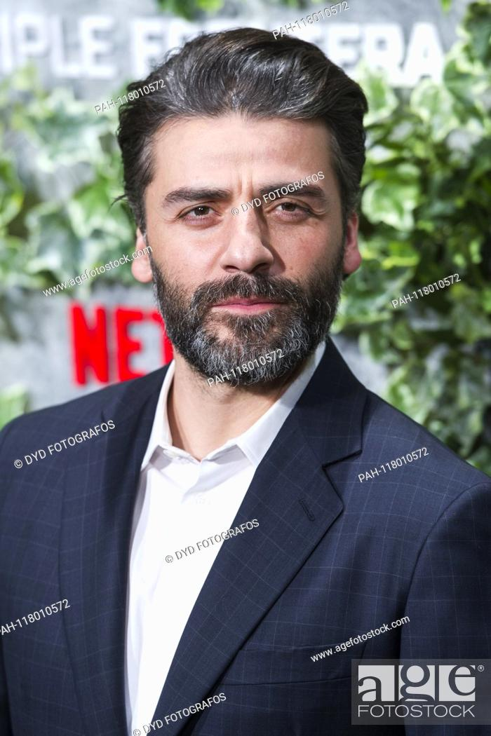Stock Photo: Oscar Isaac at the premiere of the Netflix movie 'Triple frontera / Triple Frontier' at Cine Callao. Madrid, 06.03.2019 | usage worldwide.