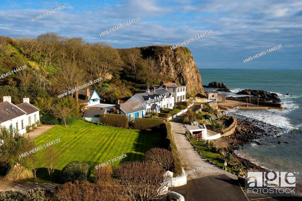 Stock Photo: United Kingdom, Northern Ireland, County Antrim, Portbradden harbour.