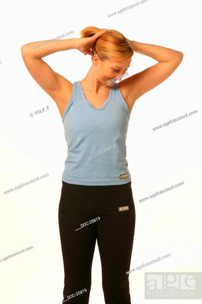 Imagen: Mobilization of shoulder and neck area against hardening.