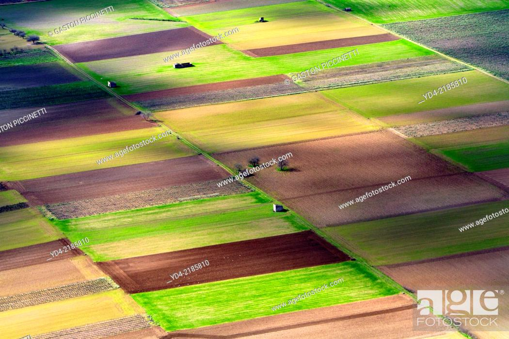 Stock Photo: Different colours in the farm land, Mallorca lands, Balearic Island, Spain.