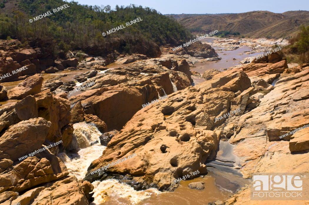 Stock Photo: Strait of the Bestikoba River, Madagascar, Africa.