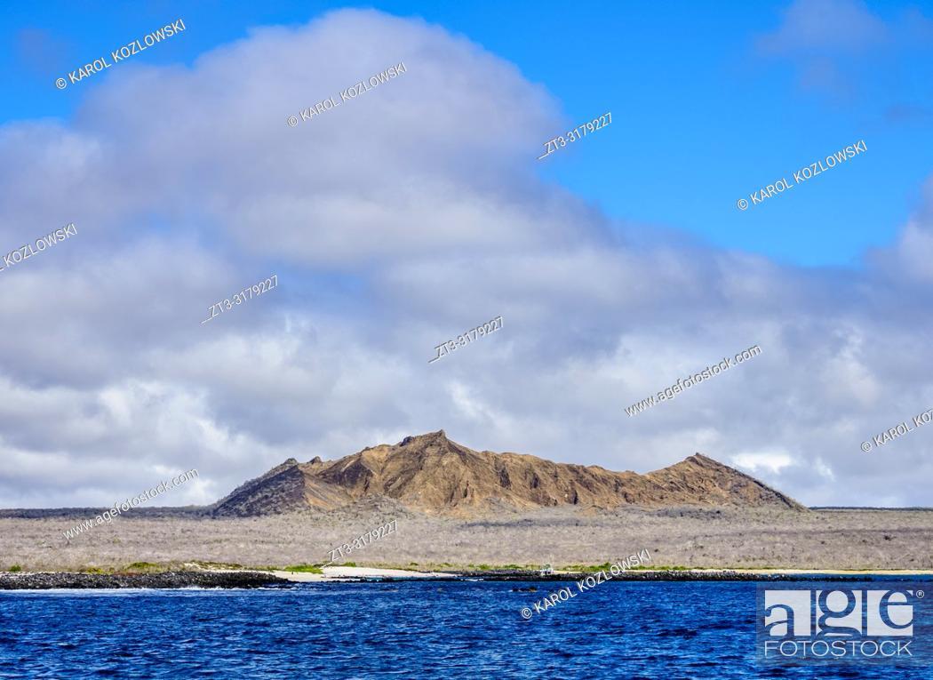 Stock Photo: Landscape of western coast, San Cristobal or Chatham Island, Galapagos, Ecuador.