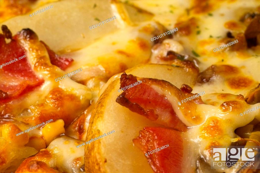 Stock Photo: cuisine, food, thinpizza, Italianfood, fastfood, western food, pizza.
