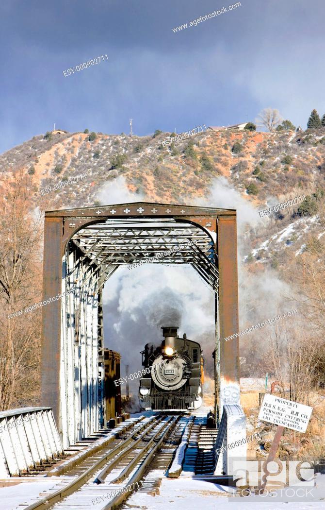 Stock Photo: Durango and Silverton Narrow Gauge Railroad, Colorado, USA.