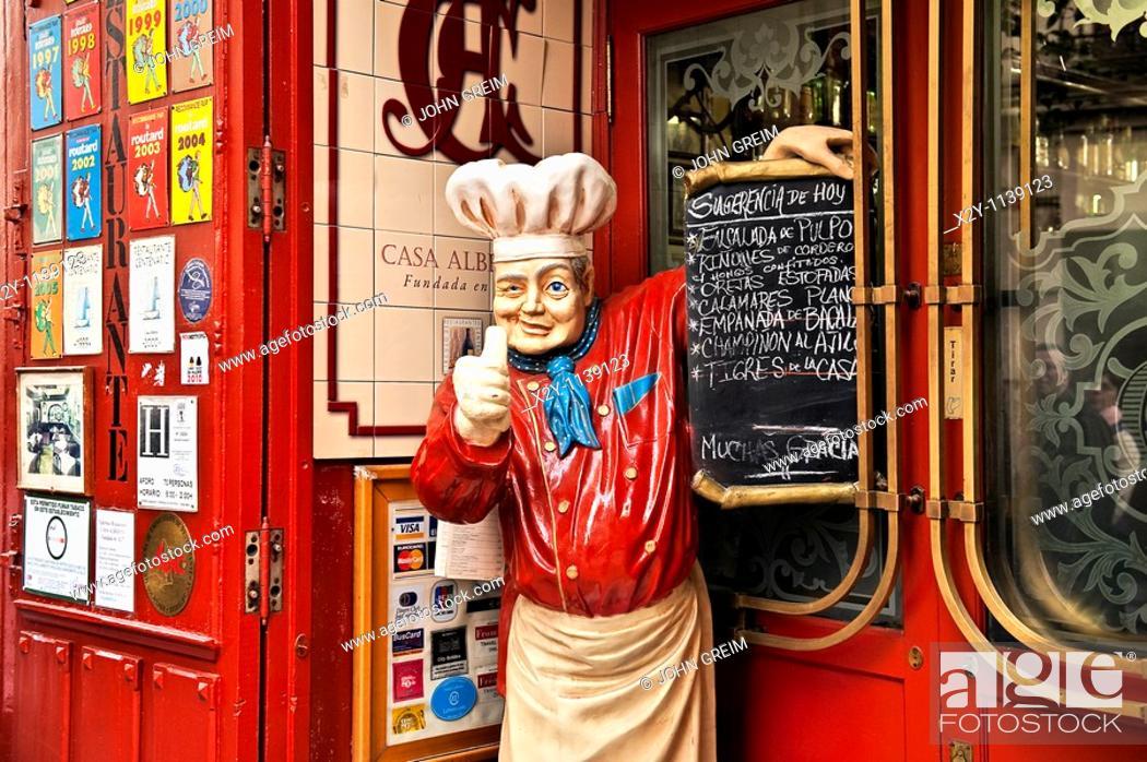 Stock Photo: Colorful tapas restaurant, Madrid, Spain.