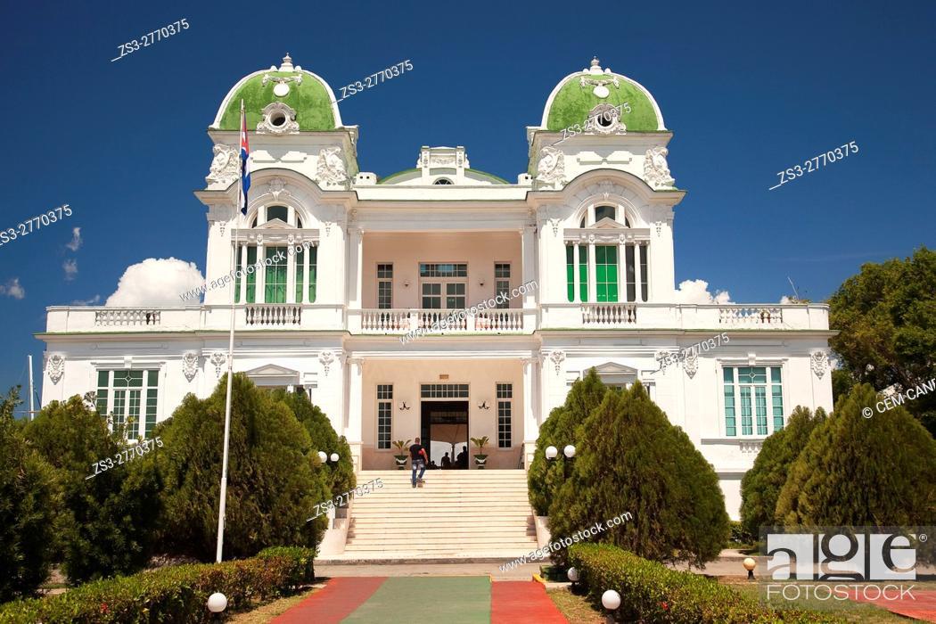 Stock Photo: View the Club Cienfuegos at Punta Gorda district, Cienfuegos, Cuba, Central America.