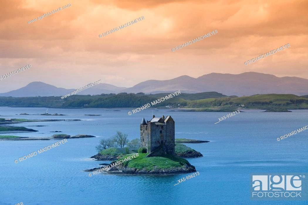 Stock Photo: Castle Stalker, near Port Appin, Scotland, UK.