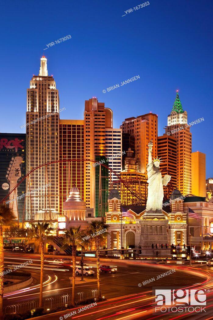 Stock Photo: New York Hotel and Casino, Las Vegas Nevada USA.