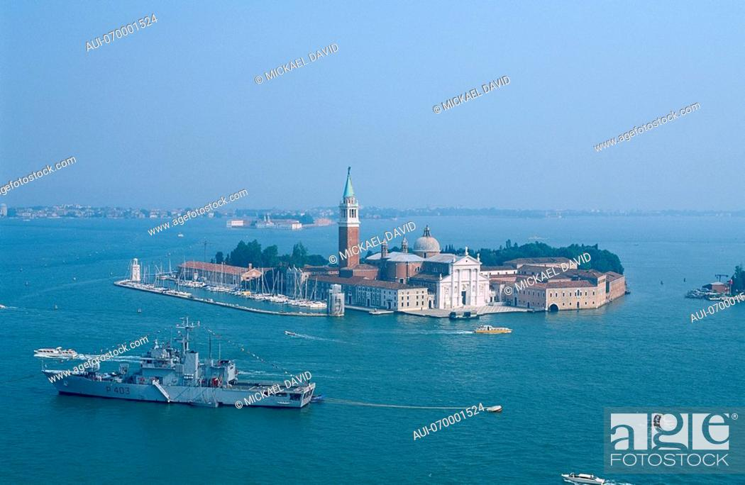 Stock Photo: Italy - Venice - island of San Giorgio Maggiore.
