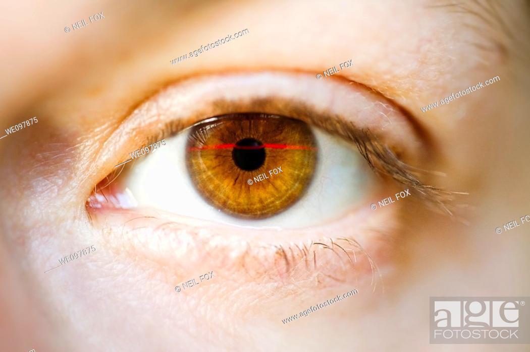 Stock Photo: Eye, scan.