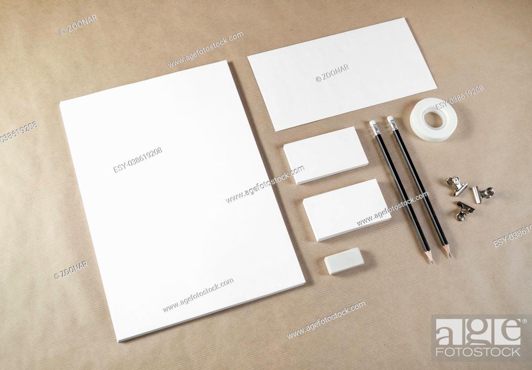Photo de stock: Blank stationery set.