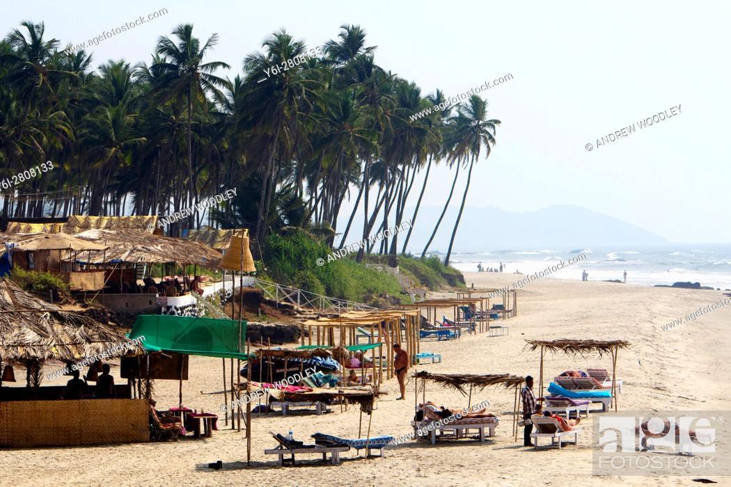 Stock Photo: Mandrem Beach north Goa India.