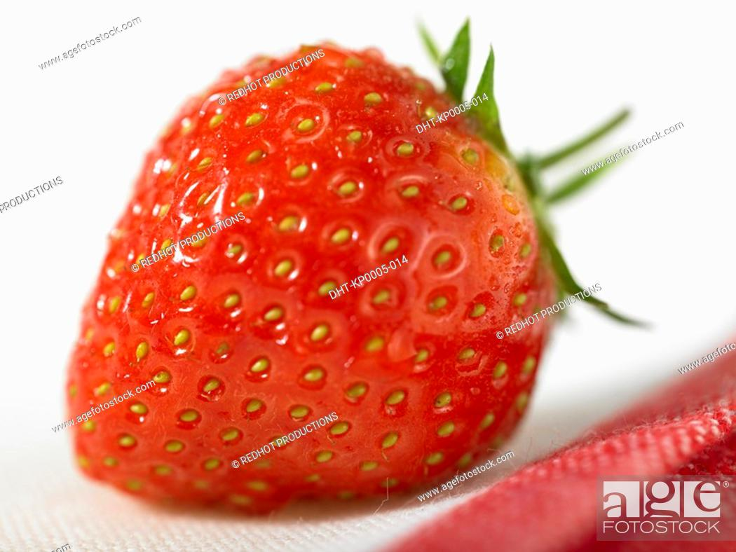 Stock Photo: Food, Fruit, Strawberries.