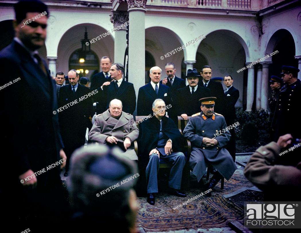The Yalta Conference Crimea Ussr 4 11 February 1945 Stock Photo