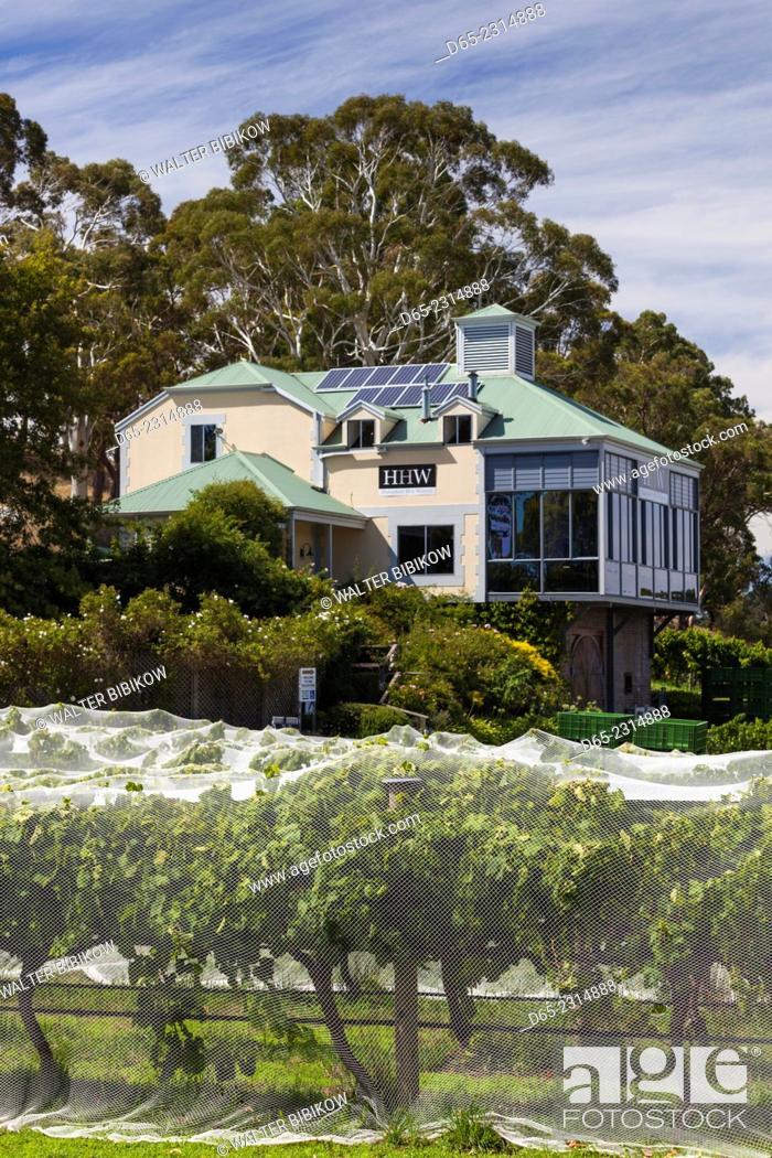 Stock Photo: Australia, South Australia, Adelaide Hills, Hahndorf, Hahndorf Hill Winery, exterior.