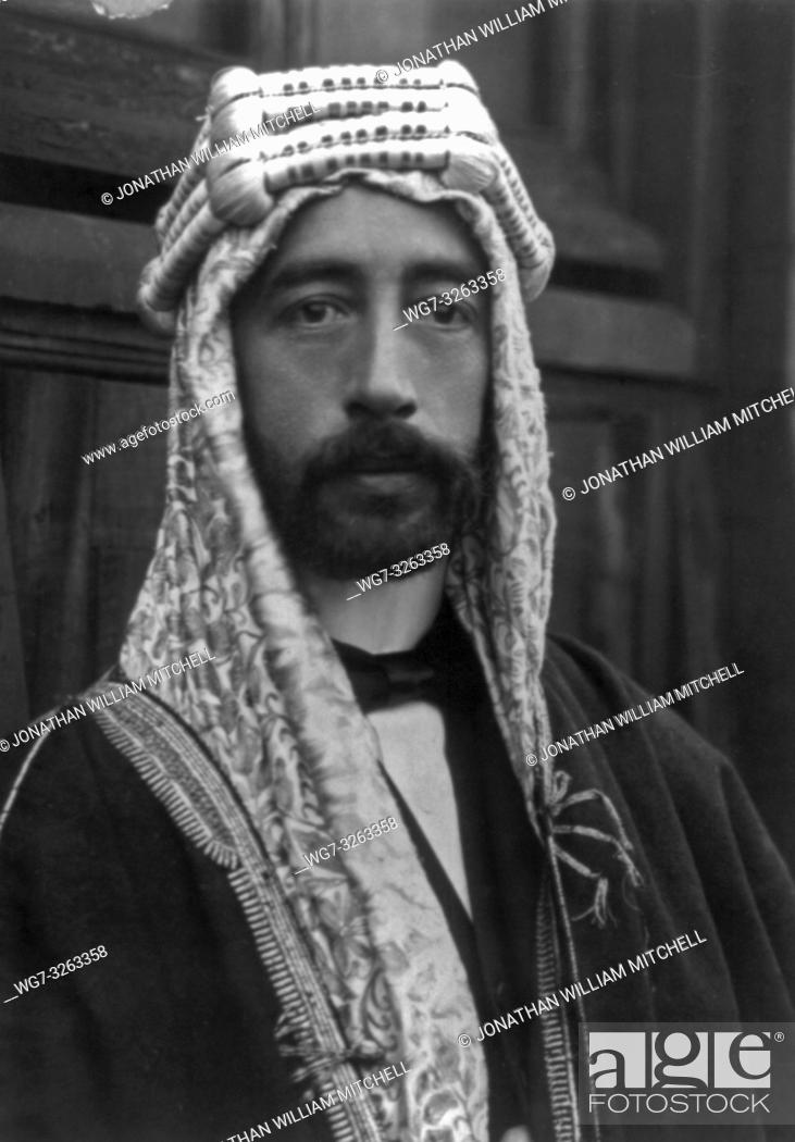 Stock Photo: Faisal I, King of Syria, 1885-1933 circa 1915 - Picture by George Bain/Atlas Photo Archive.