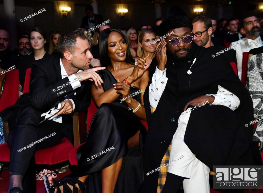 Fashion Designer Philipp Plein L R Model Naomi Campbell And Rapper Will Stock Photo Picture And Rights Managed Image Pic Pah 85559636 Agefotostock