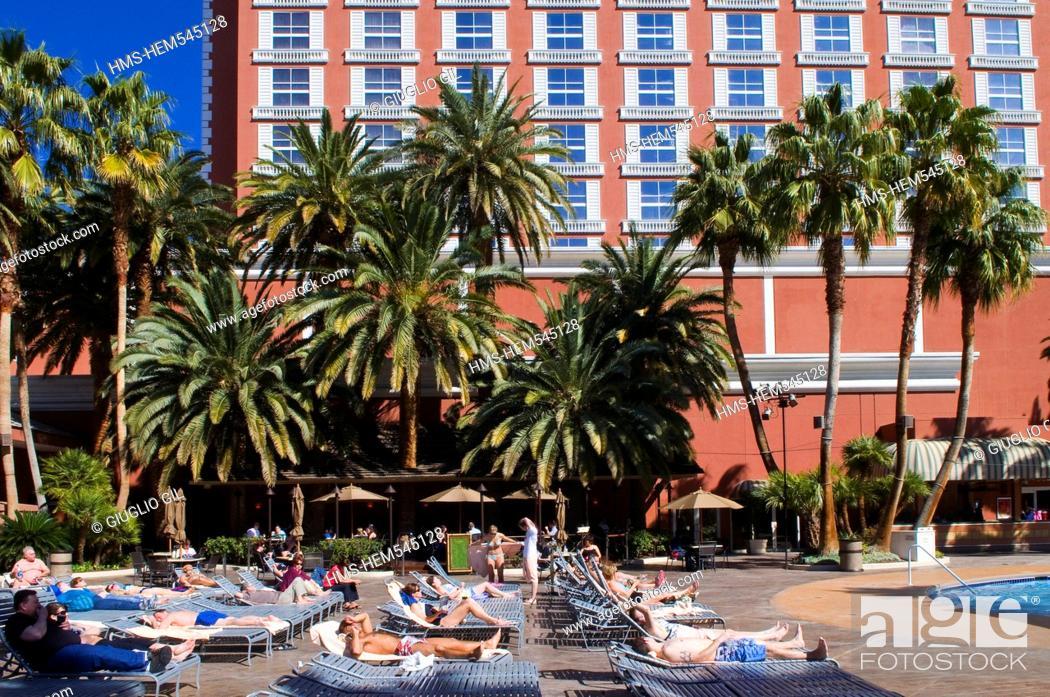 Stock Photo: United Statess, Nevada, Las Vegas, Treasure Island casino resort hotel.