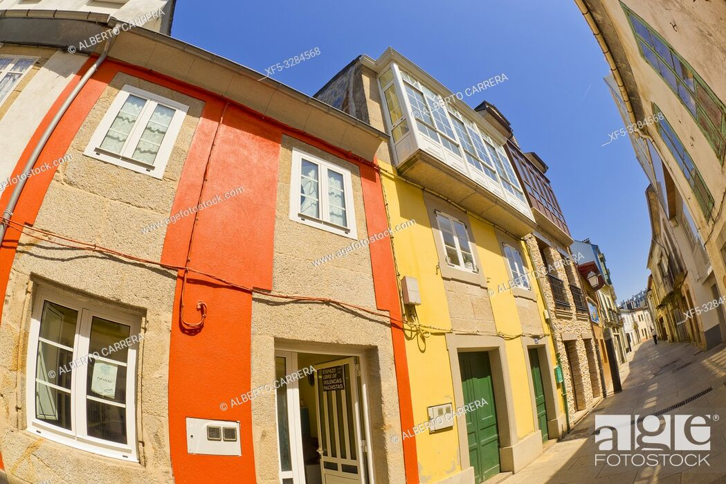 Imagen: Street Scene, Tipycal Architecture, Vilalba, Lugo, Galicia, Spain, Europe.