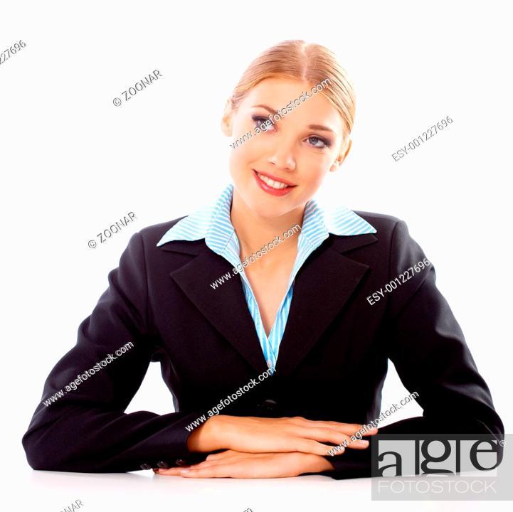 Stock Photo: Blond Businesswoman.