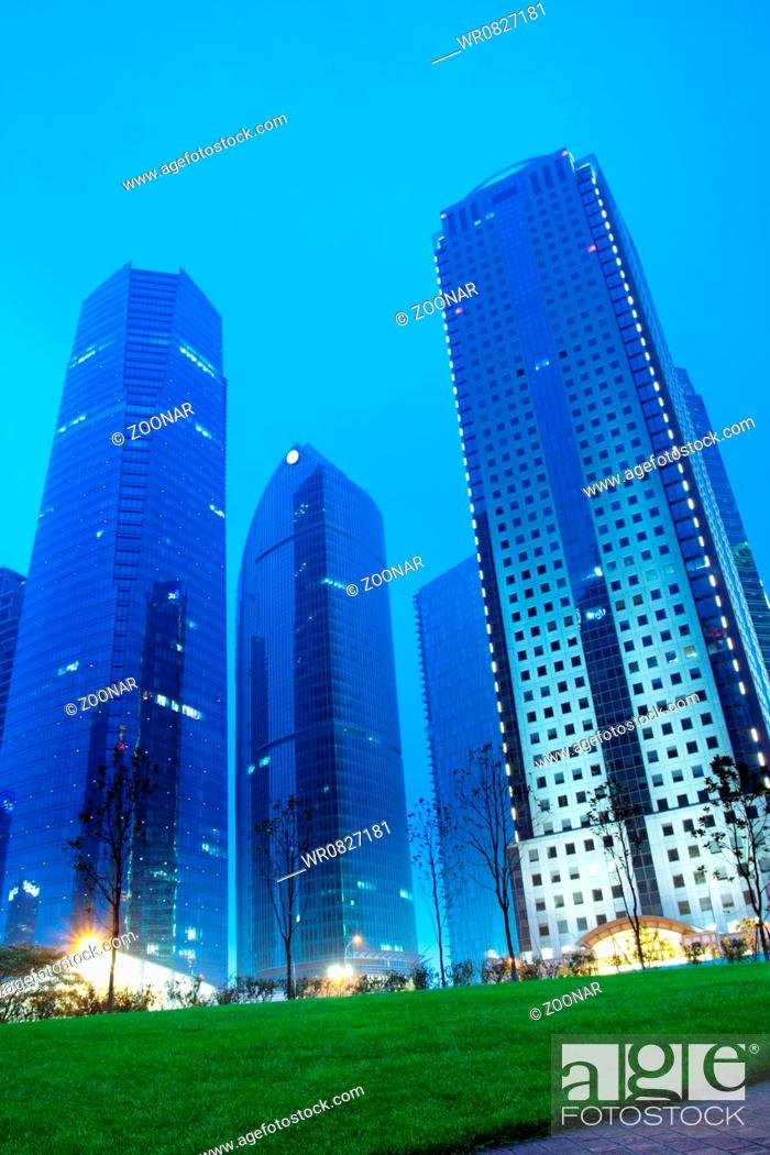 Stock Photo: shanghai lujiazui financial centre at night.