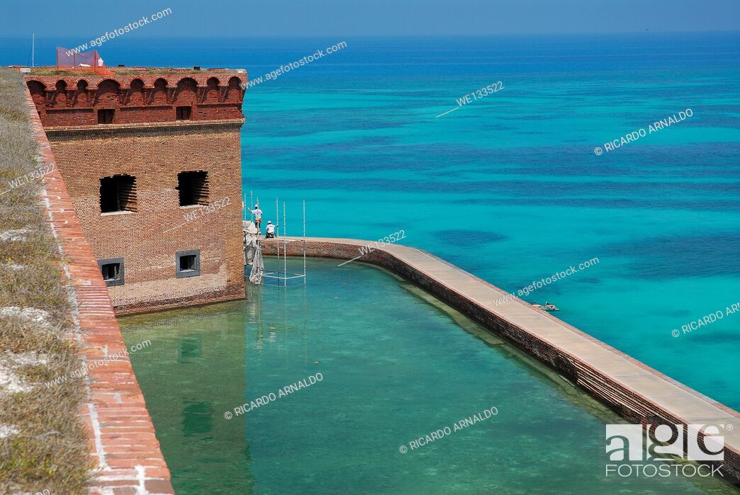 Stock Photo: Fort Jefferson's Moat.