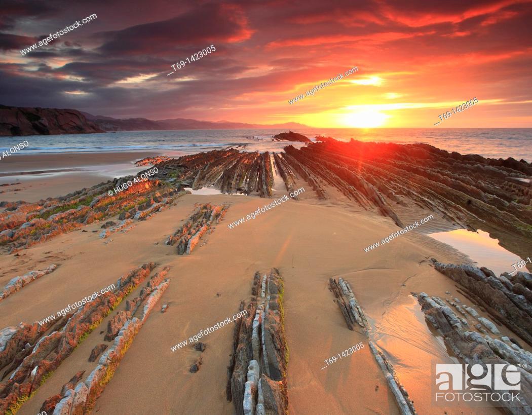Stock Photo: Zumaia beach.