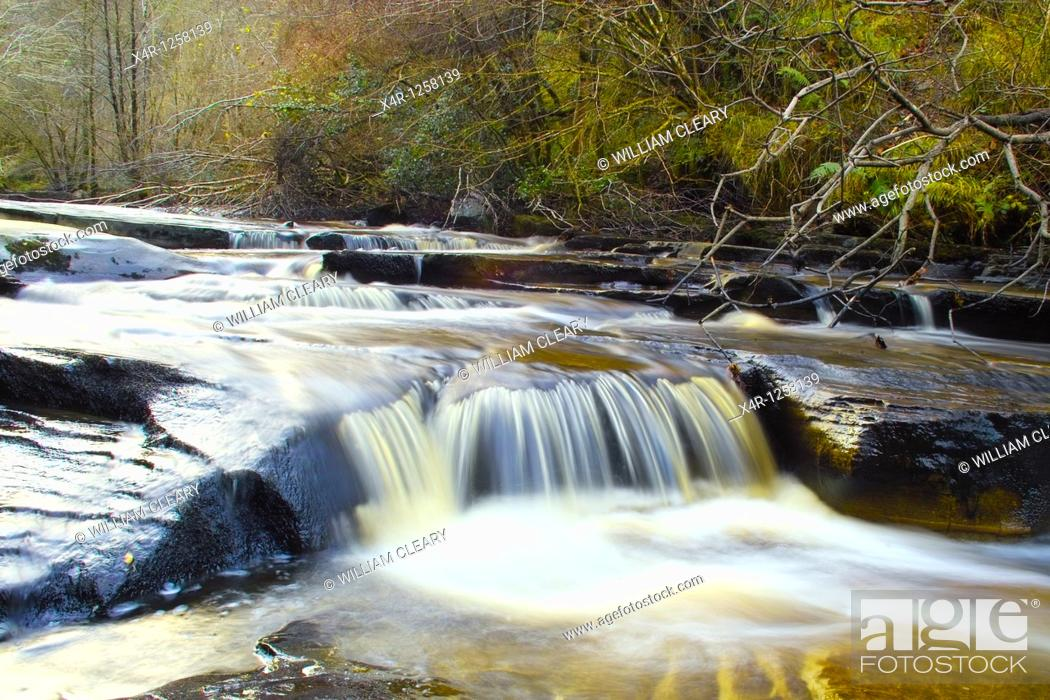 Stock Photo: The River Barrow in the Slieve Bloom Mountains, near Clonaslee, Co  Laois, Ireland.