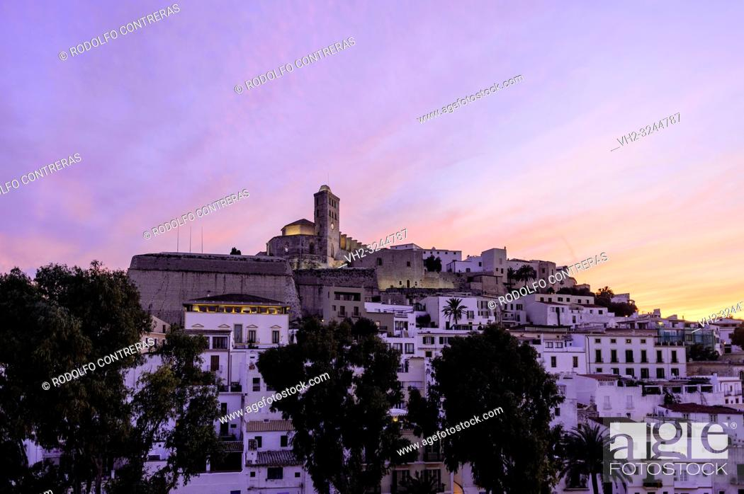 Stock Photo: Ibiza old town.