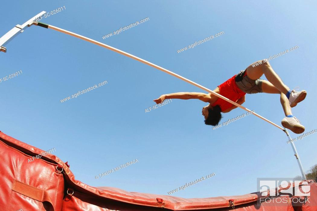 Stock Photo: High Jumper.