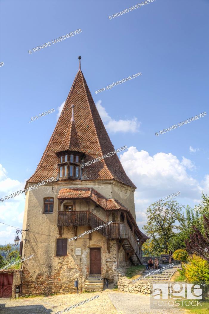 Imagen: Shoemaker's Tower, Sighisoara, UNESCO World Heritage Site, Mures County, Transylvania Region, Romania.
