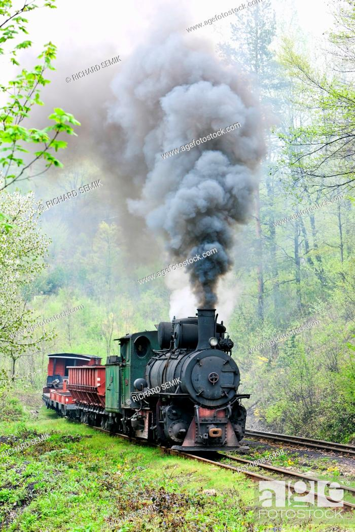Stock Photo: narrow gauge railway, Banovici, Bosnia and Hercegovina.