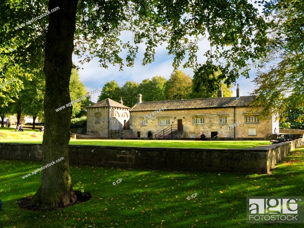 Stock Photo: The Court House museum in the grounds of Knaresborough Castle, North Yorkshire, England, UK.