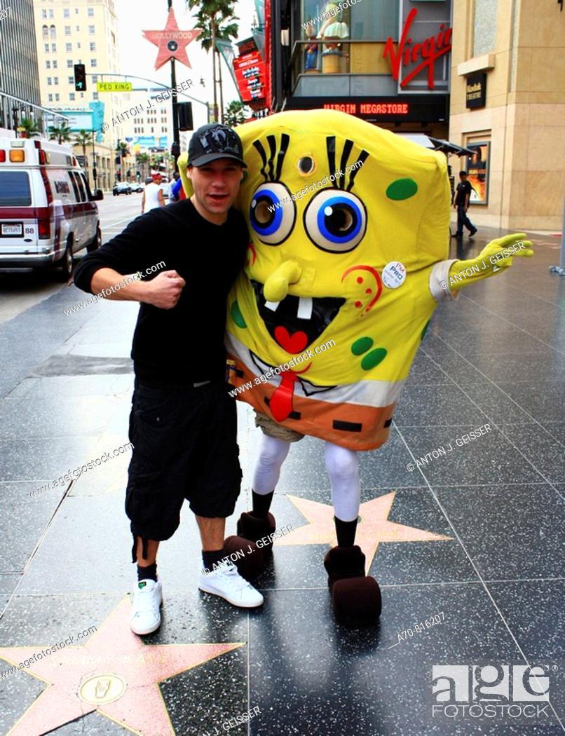 Stock Photo: Walk of Fame, SpongeBob. Los Angeles. CA.