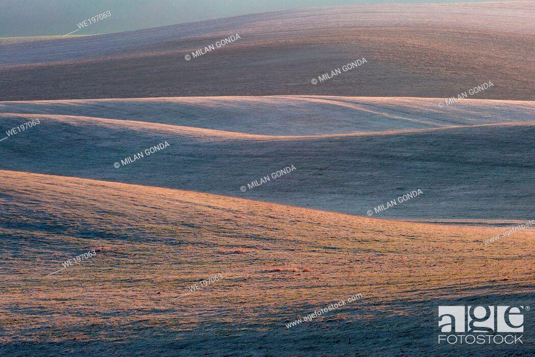Imagen: Detail of a rural landscape in Turiec region, Slovakia.
