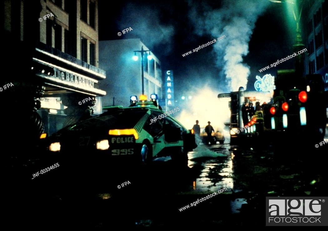 Stock Photo: Film 'Der Blade Runner' USA 1982, Regie: Ridley Scott, Filmszene   science fiction, los angeles 2019, zukunftsvision, zukunft, thriller, action, fahrzeug, auto.