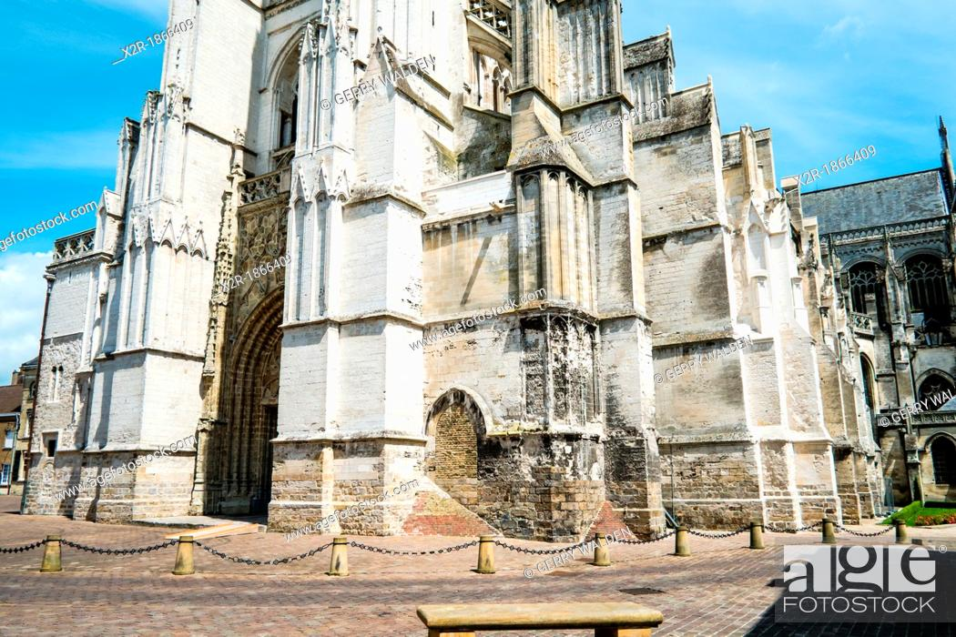 Stock Photo: St  Omer cathedral in Pas-de-Calais, France.
