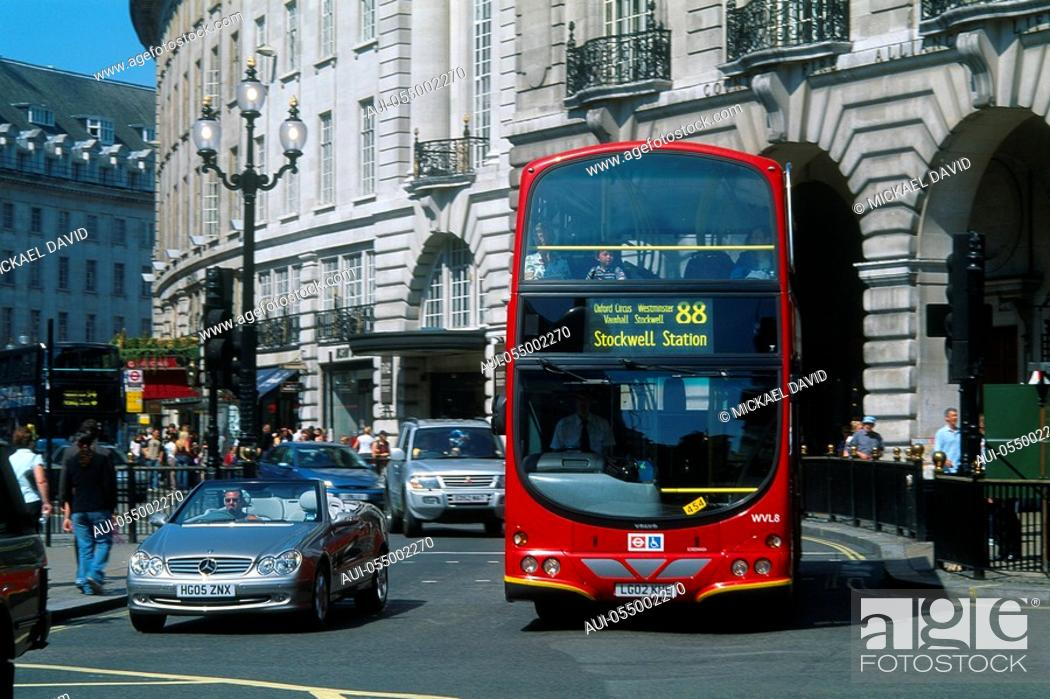 Stock Photo: England - London - District of Mayfair - Regent Street.