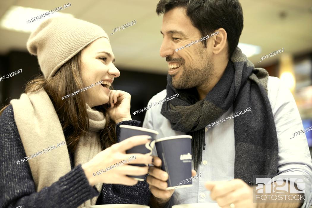 Photo de stock: couple, coffee shop, in Munich, Germany.