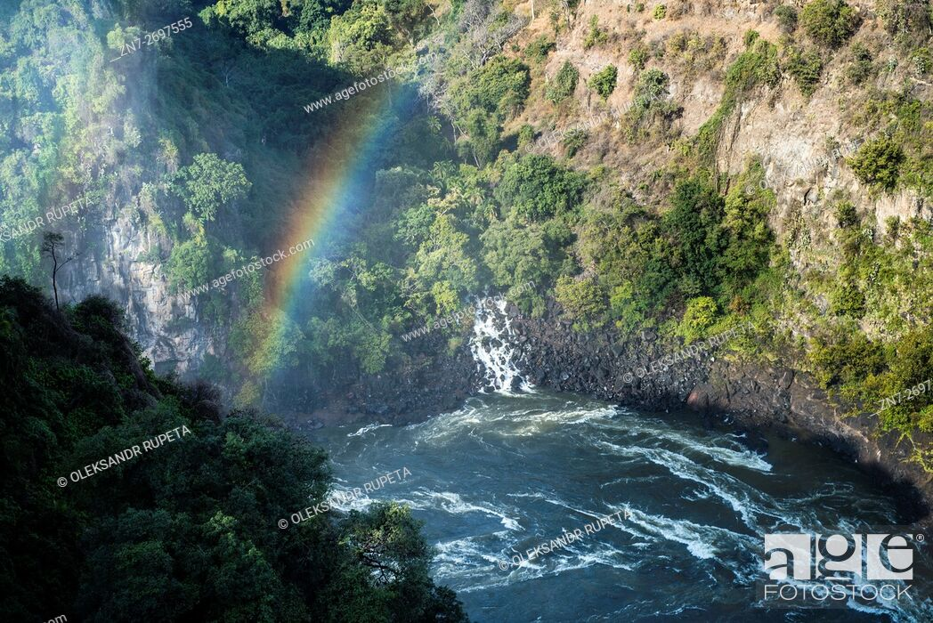Stock Photo: Zambezi river near Livingstone, Zambia.