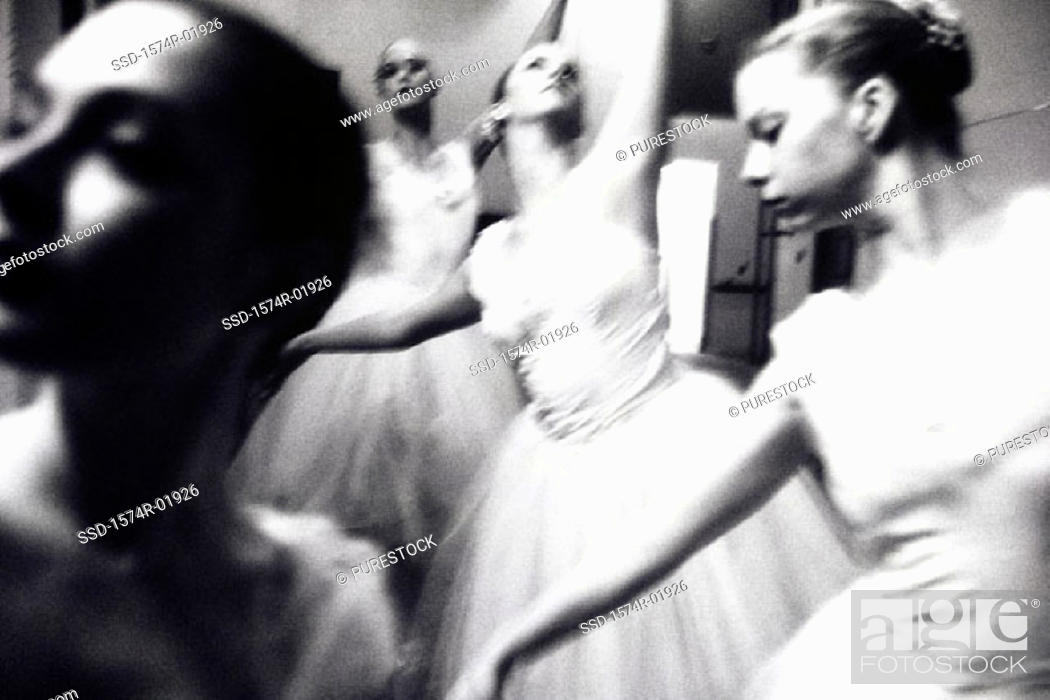Stock Photo: Close-up of young woman performing ballet.