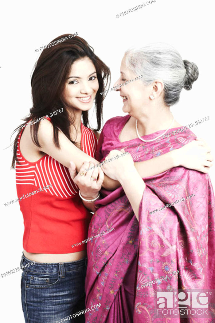 Stock Photo: Portrait of a grandmother with her granddaughter.